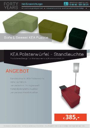 Angebot KEA Polsterwürfel - Standleuchte aus der Kollektion Kea Puzzle von der Firma HKB Büroeinrichtungen GmbH Husum