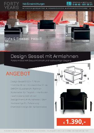 Angebot Design Sessel mit Armlehnen aus der Kollektion hkb-11 von der Firma HKB Büroeinrichtungen GmbH Husum