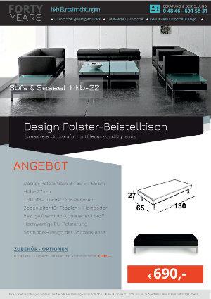 Angebot Design Polster-Beistelltisch aus der Kollektion hkb-22 von der Firma HKB Büroeinrichtungen GmbH Husum