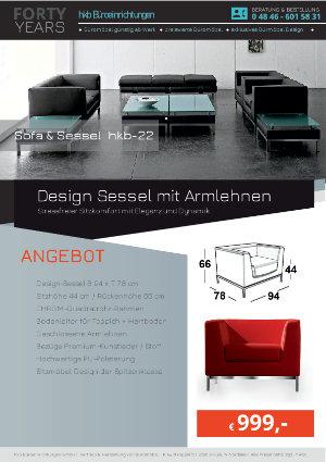 Angebot Design Sessel mit Armlehnen aus der Kollektion hkb-22 von der Firma HKB Büroeinrichtungen GmbH Husum