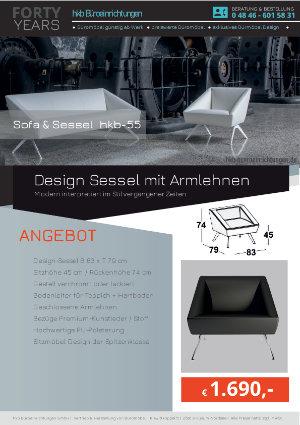 Angebot Design Sessel mit Armlehnen aus der Kollektion hkb-55 von der Firma HKB Büroeinrichtungen GmbH Husum