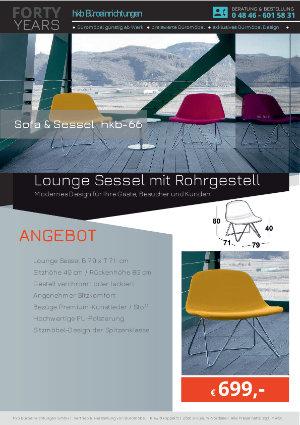 Angebot Lounge Sessel mit Rohrgestell aus der Kollektion hkb-55 von der Firma HKB Büroeinrichtungen GmbH Husum