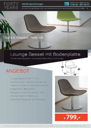 Angebot Lounge Sessel mit Bodenplatte aus der Kollektion hkb-55 von der Firma HKB Büroeinrichtungen GmbH Husum