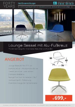 Angebot Lounge Sessel mit Alu-Fußkreuz aus der Kollektion hkb-55 von der Firma HKB Büroeinrichtungen GmbH Husum
