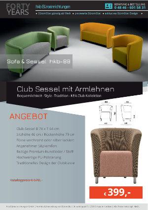 Club Sessel mit Armlehnen aus der Kollektion hkb-88 von der Firma HKB Büroeinrichtungen GmbH Husum