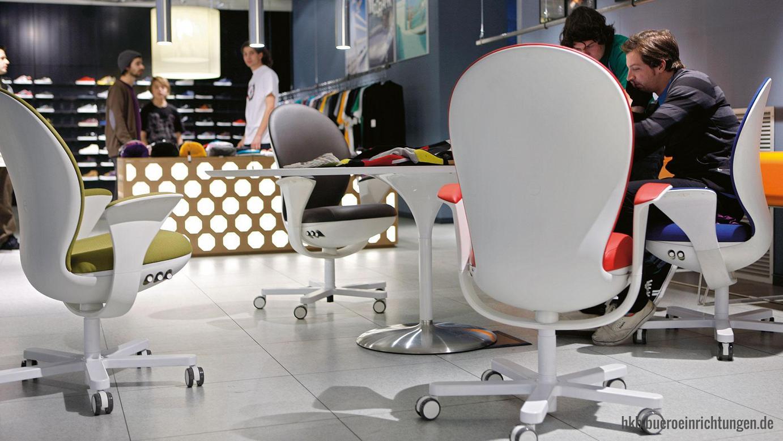 Bürostuhl Ball Bürodrehstuhl Besucherstuhl Bürostuhl mit Vollpolster Sitz und Rücken und hoher Rückenlehne