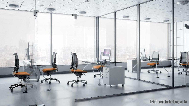 Bürodrehstuhl-Drehstuhl mit hoher Rückenlehne und Fußgestell Aluminium poliert Sitz und Rücken Vollpolster Bürostuhl mit Lumbalstütze und Schiebesitz mit höhenverstellbaren Armlehnen