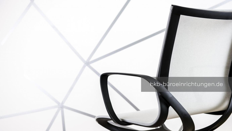 Bürostuhl KEA Wave Bürodrehstuhl Besucherstuhl Bürostuhl mit Vollpolster Sitz und Rücken und hoher Rückenlehne