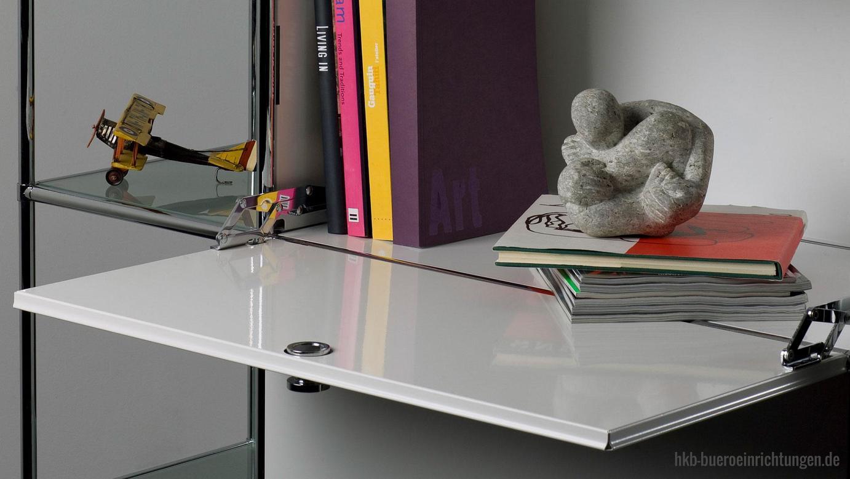Büromöbel Metall Klapptuer mit Qualitäts-Scharnier in Hochglanzchrom Metall Klapptueren von hoher Qualität die jeder anspruchvollsten Anforderung gerecht werden