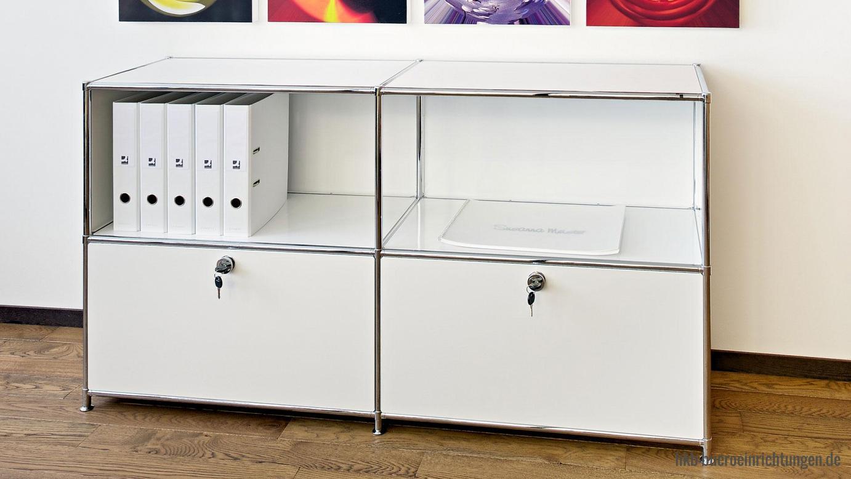 Sideboard Metall Lowboard für Esszimmer, Wohnzimmer und allen Livingbereichen Metall Klapptüren und Metall Ausziehtueren öffnen Verschleiß- und Geräuscharm