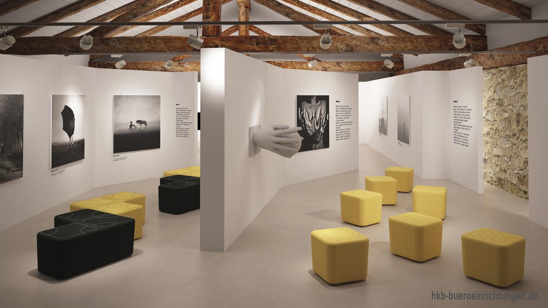 Modernes Design mit feinsten textilen Oberflächen und Funktionalität und Qualität