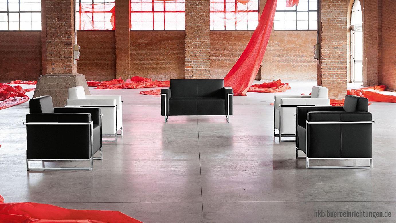 Büromöbel Sessel Wartesessel für den stilvollen und eleganten Empfang - ein Highlight für jedes Foyer
